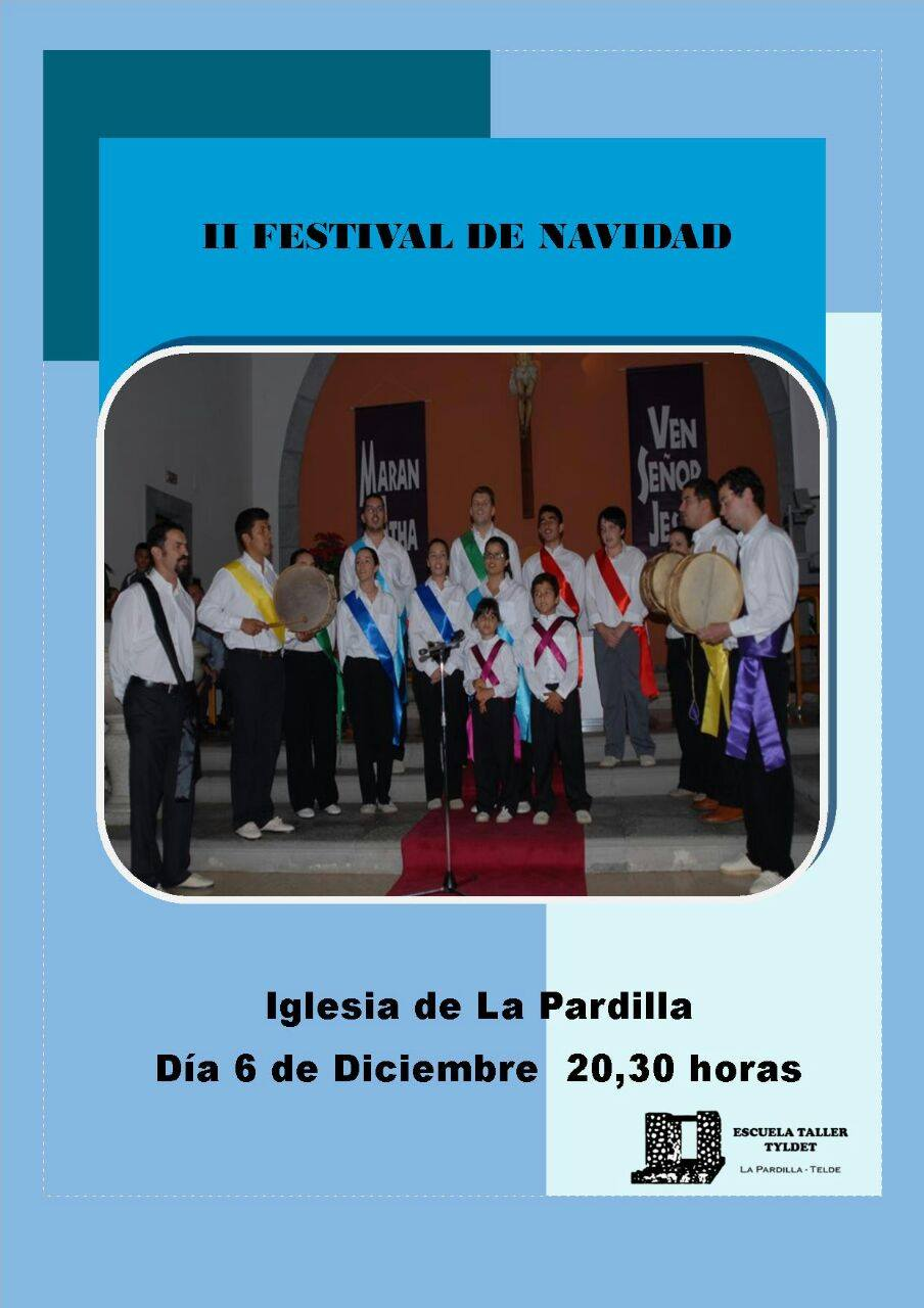 Cartel del II Festival de Navidad - 2014