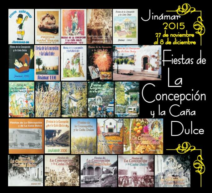 Portada del programa de las fiestas de La Concepción y la Caña Dulce 2015