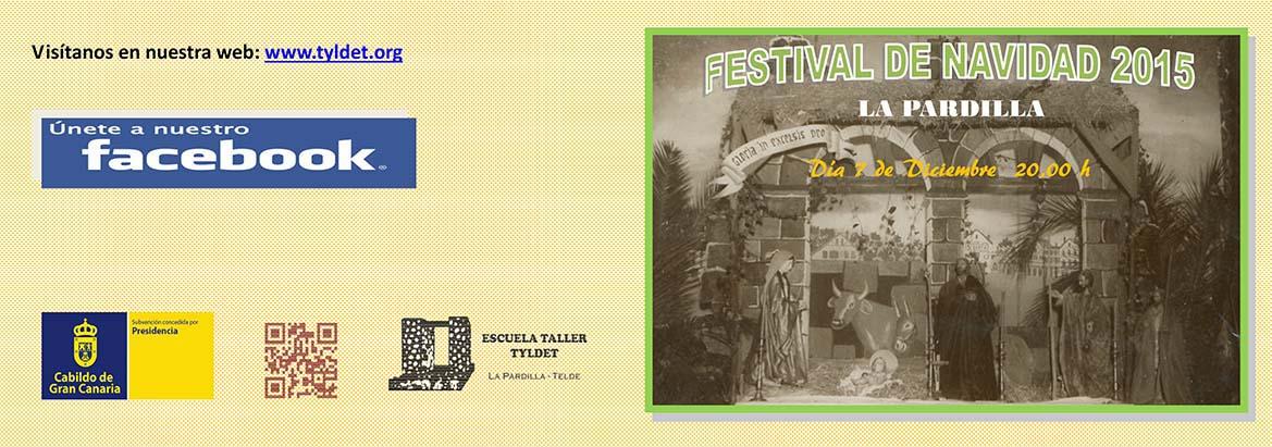 Programa del Festival de Navidad 2015. Cara exterior