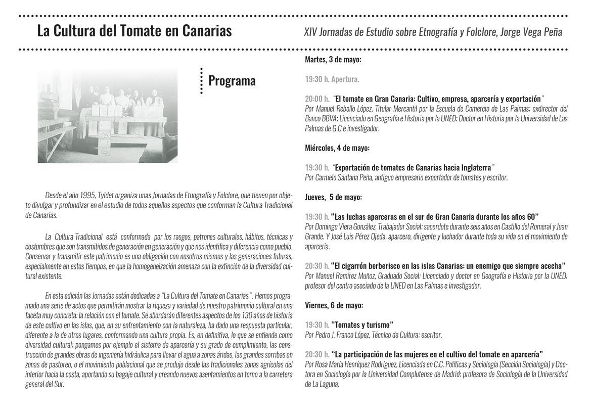 XIV Jornadas de Estudio sobre Etnografía y Folclore-Programa-2