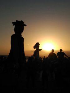 Anochece en Maspalomas. Foto Juani López González